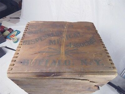 antique wooden crate DR PIERCE GOLDEN MEDICAL DISCOVERY