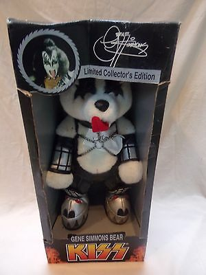 Gene Simmons Kiss Bear 1988 Limited Collectors Edition