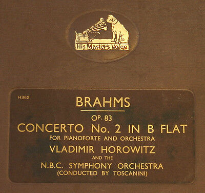 HOROWITZ -PIANO- & NBC SYMPH. & TOSCANINI Brahms: Concerto No. 2 in B Flat  A155