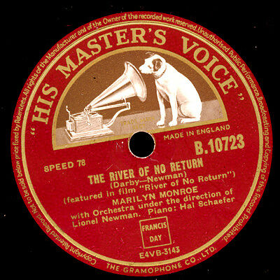 MARILYN MONROE The River of No Return / I'm gonna file my Claim    78rpm  S9103