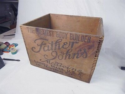 Antique Wooden Crate Father Johns Medicine