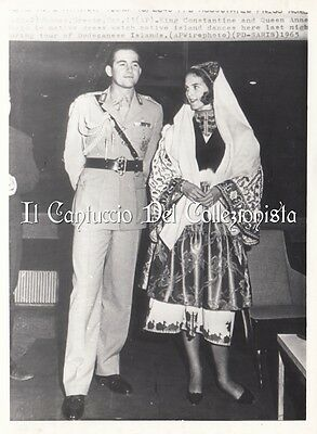 1964 King Constantine and Queen Anne Marie Dodecanese Islands Press photo CBBC21