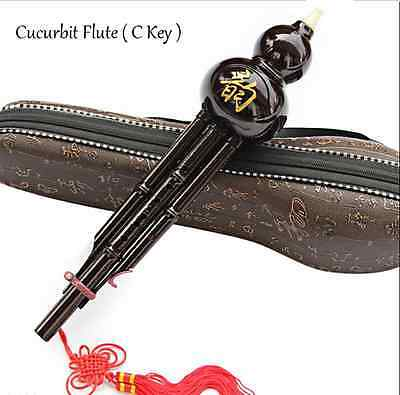 1PC Chinese Hulusi Ethnic Gourd Cucurbit Flute Instrument with C Key Hulusi