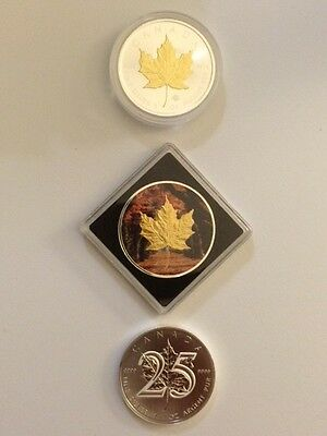 Maple Leaf Collector - Set Of 3 X 1 Oz Silver Rare Coins -