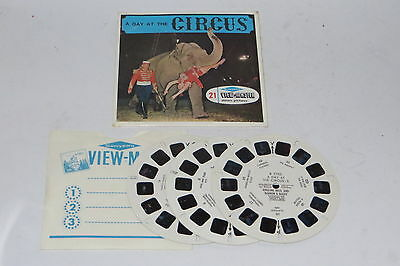vintage view master reel Sawyers a Day at the circus set