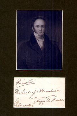 Lord Palmerston  PM signed FF to Earl of Aberdeen PM