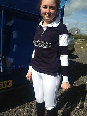 Ladies Messy Mare Horse Riding Rugby Top - Size Medium