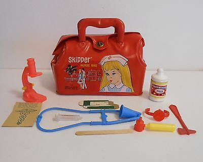 1965 Skipper Extremely Rare Canadian Nurse Bag Nr Mint w/ contents Wow !!!