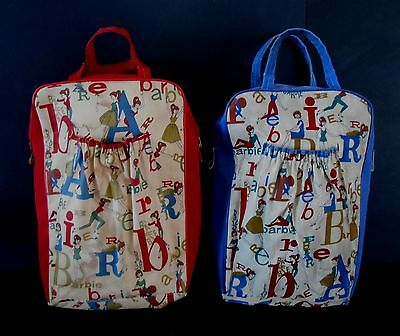 1964 Vintage H.T.F Barbie Overnight Tote Bag Set in Fine Condition !!!!