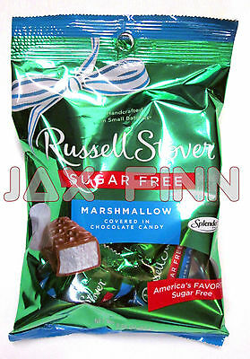 Russel Stover Sugar Free Marshmallow Chocolate Covered Candy (3 Pack) 3 oz Bags