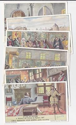 William the silent - 6 Liebig trade cards - san1569fiam issued in 1953