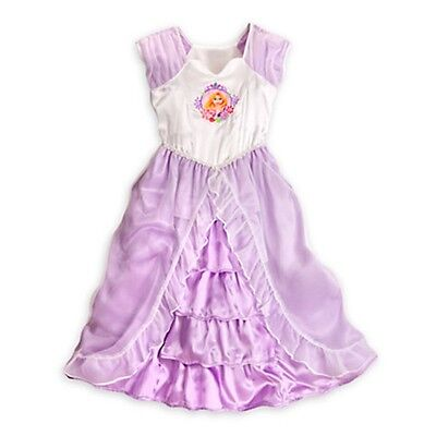 Disney Store Rapunzel Deluxe Nightgown Tangled Princess 4 NEW Ruffle