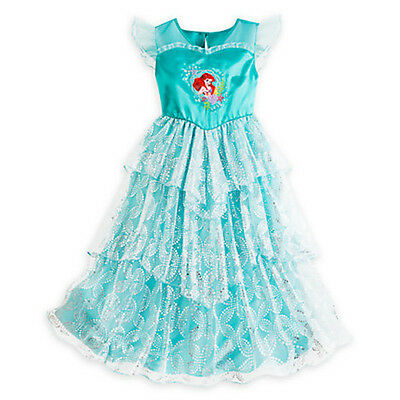 NEW Disney Store Princess Ariel Deluxe Nightgown Costume Little Mermaid DRESS UP