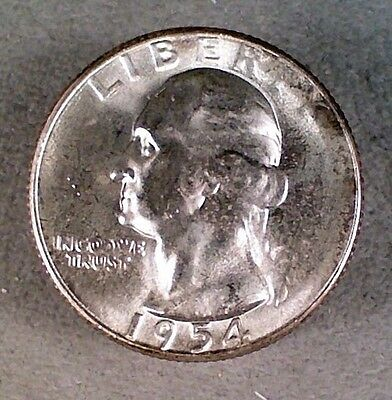 1954-S BU Washington Silver Quarter (003)