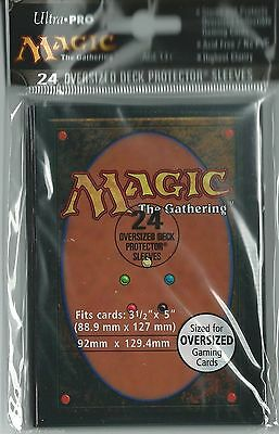 24 Ultra Pro Magic Card Back Oversized Sleeve Deck Protector EDH Commander 82630