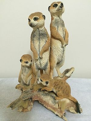 """Country Artist K.Sherwin Limited Edition Sculpture """"Meerkats"""" New in Box"""