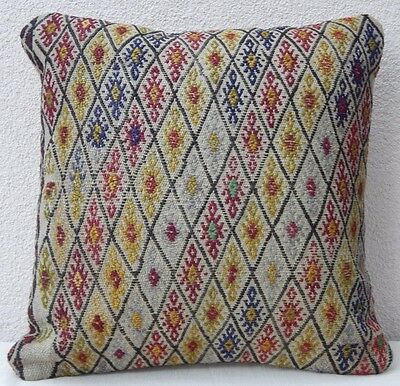 18''X 18'' Kelim Kissen, Handmade Kilim Pillow Cover, Decorative Throw Pillows
