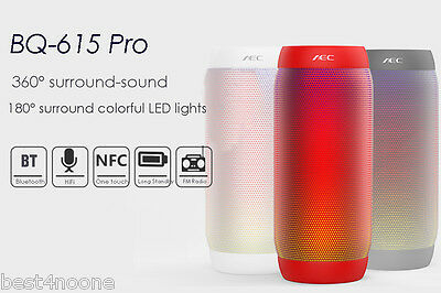BQ - 615 PRO Colorful LED Wireless Bluetooth 3.0 HIFI Stereo Speaker Support NFC