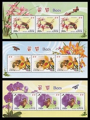 Korea 2013 insects bees fauna flowers butterflies 3 nice klb MNH