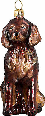 Joy To The World IRISH SETTER Christmas ornament dog NEW