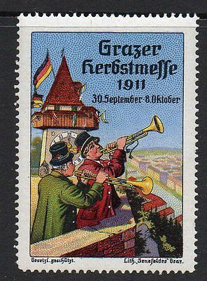 Germany 1911 Grazere Herbstmesse poster stamp