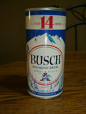 Old Rare 3.2% Alcohol Vanity Lid Busch Bavarian 14 oz  SS Beer Can