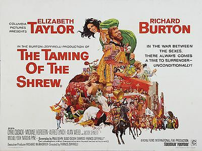 "Taming of the Shrew 16"" x 12"" Reproduction Movie Poster Photograph"