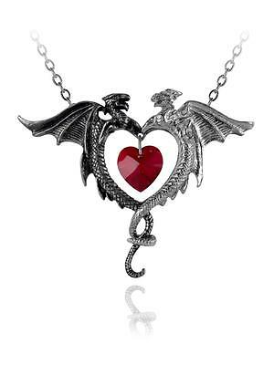 Couer Sauvage Dragon/Heart Pendant - Alchemy Gothic Jewellery P446