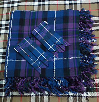 Men's Kilt  Fly Plaid Pride Of Scotland Tartan/Honor of Scotland Kilt Fly Plaid