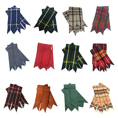 Men's Kilt Hose Sock Flashes Various Tartan/Scottish Kilt Flashes/Highland Kilts