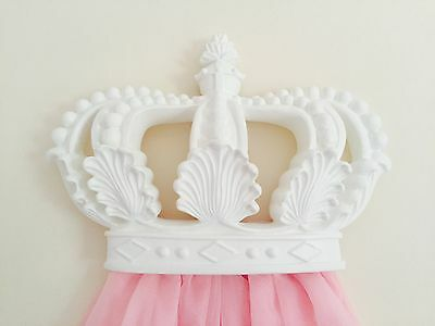 Brt White Moulding Baby Nursery Girls Large Princess Wall Bed Cot Crown Canopy