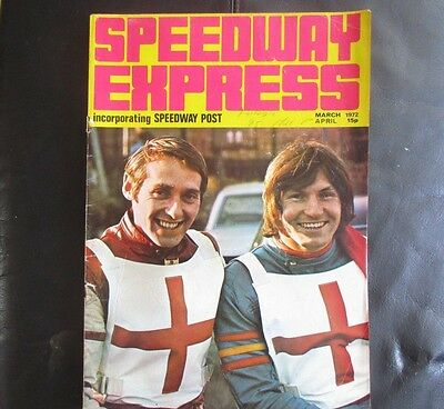 Speedway Express (Incorporating Speedway Post) Magazine March/april 1972
