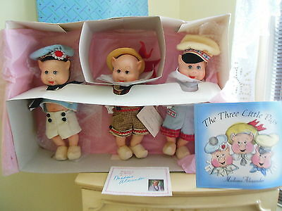 "Madame Alexander Vintage Repro 12"" Three Little Pigs Box Set W/book"