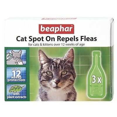Beaphar Bio Spot On Flea and Tick for Cats Natural Oils 3 pack for 3 months