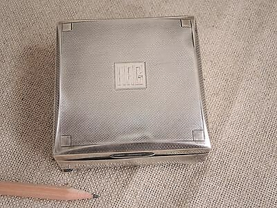 Mappin Webb Sterling Silver Cigarette Box England Art Deco Jewelry Casket 1930s