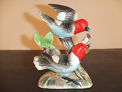 Vintage Porcelain Double Woodpecker 5X3 Japan