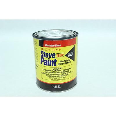 High Temp Stove Paint Low Gloss Black Worcester Brush Specialty Paint 53H210