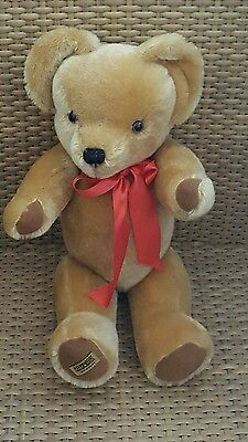 """Merrythought Teddy Bear London Gold 16"""" Mohair Made in Britain With Tags"""