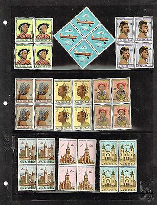Angola, blocks of four, small colletion, MNH.