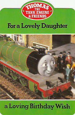 Vintage Thomas The Tank Engine Happy Birthday Daughter 1980s Greeting Card !