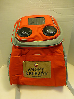 Angry Orchard Hard Cider Backpack Bluetooth Speakers Solar Charger NEW