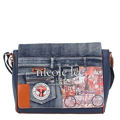 Nicole Lee Messenger Bag with 15 Inch Laptop Compartment,BICYCLE BUY 2 GET 1 FRE