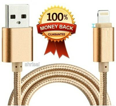 2M STRONG BRAIDED USB DATA SYNC CHARGER CABLE  for iPhone 6 5 5S 5C iPad 6 Plus