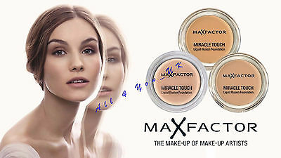 Max Factor Miracle Touch Liquid Illusion Cream Foundation~~Please Choose Shade