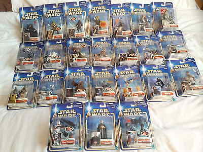 24 Star Wars Episode 2 (Attack Of The Clones) Carded Figures