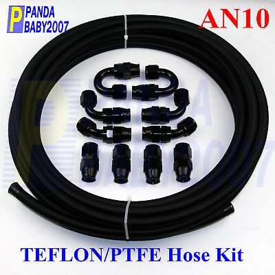AN10 10AN -10 Braided Teflon OIL PTFE Line+fitting Hose End 16.4FT(FIT:E85 FUEL)