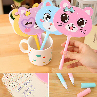 2Pcs Baby Kids Cute Fan Ballpoint Pens Stationery Gift Toy Brithday Party Gifts