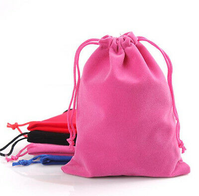 DIY 10X New Velvet Drawstring Jewellery Packaging Bags Pouches Jewellery bags