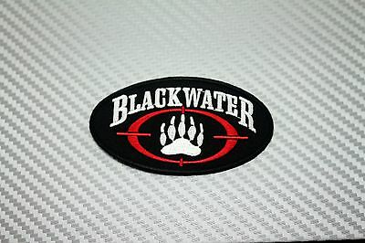Embroidered Patch Iron Sew Logo Emblem BLACKWATER Army Moral Military Tactical
