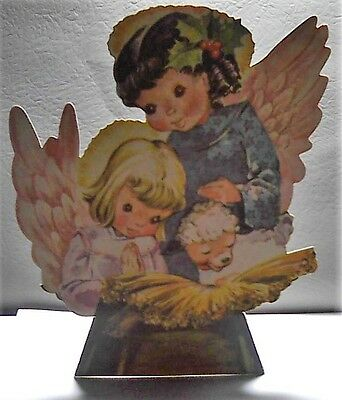 Vintage Angel Christmas  Stand Up/Alone Christmas Card 1950's